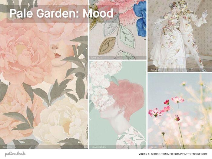 Vision 3: SS18 Print Trend Themes African Summer / Drawn Botanicals / Pale Garden