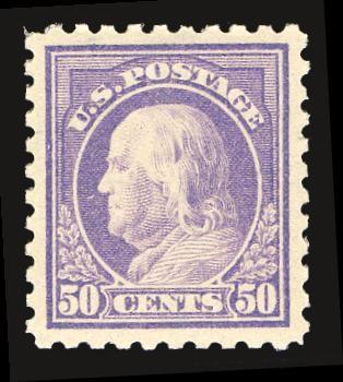 Century Stamps has this item on Collectors Corner - Scott# 440, 1915 50c Violet, PSE Superb 98, Mint OGnh