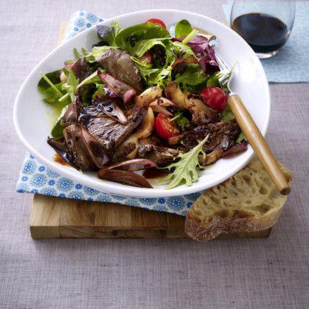 Austernpilz-Salat mit zwei Sorten Balsamico Rezept   LECKER
