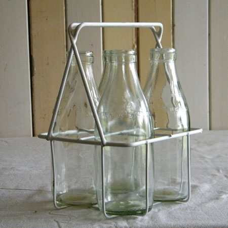 Good old days#morning delivery#milk bottles#the cream on the aluminum when you peel the top off hmmmm