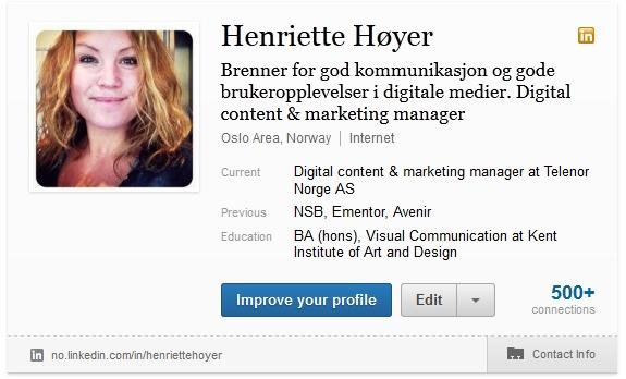 Henriette Høyer | #sprudle, glad, sangfugl, gadget girl, opptatt av god dialog i sosiale medier, gjerne b2b @Henriette Høyer