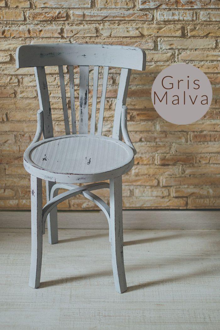 sillas de colores vintage