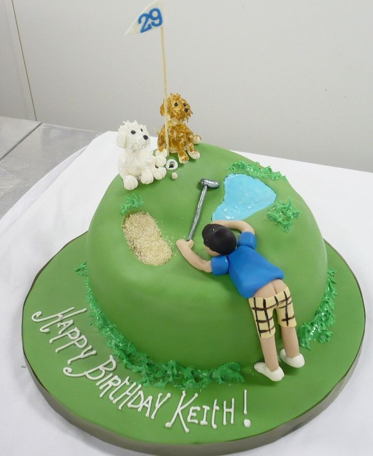 Birthdays For Adults Plumber Butt Golfer Cake Golf Theme