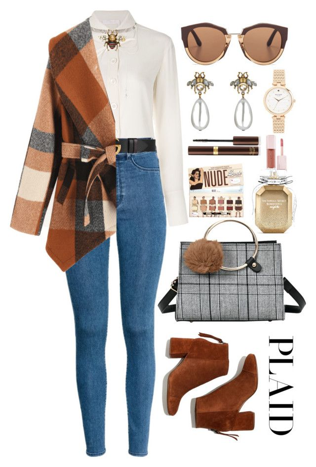 """""""Cosy plaid"""" by asnaate ❤ liked on Polyvore featuring Chloé, H&M, nOir, Gucci, Madewell, Marni, Kate Spade, Victoria's Secret, Tom Ford and Puma"""