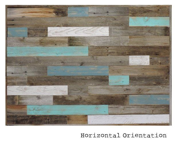 "Amazon.com: Reclaimed Wood Headboard Panel for King Bed (82.5"" X 37.5"") made of Recycled, Rustic Barn Wood. Wallmounted. Your Choice of Accent Colors: Handmade"
