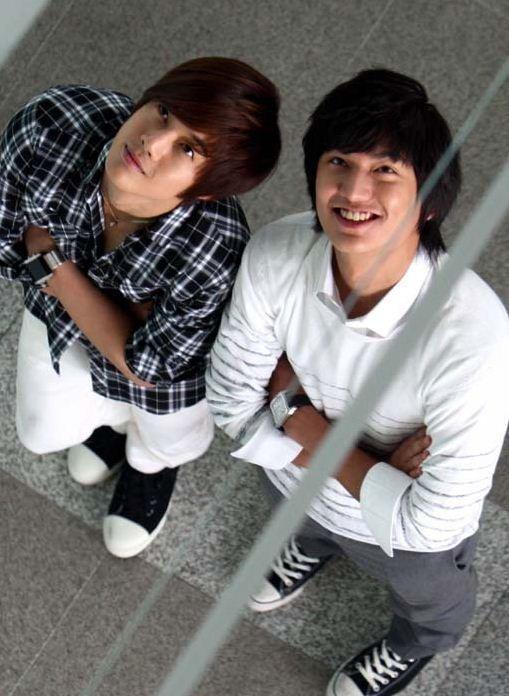 Lee Min Ho and Kim Hyun Joong