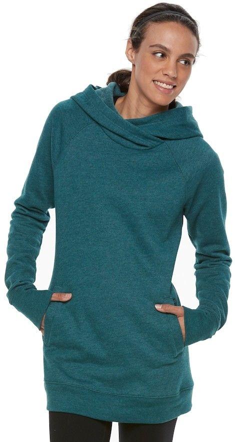 2d3b13a0890 Women's Tek Gear® Hooded Fleece Tunic | Products | Tunic, Workout ...