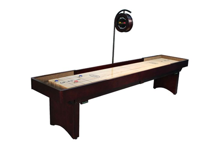 Each Tournament shuffleboard table is made from the finest locally harvested hard maple and custom built to fit your specific order by one of our master craftsman. The cabinet of your Tournament shuffleboard table made by hand and available in a variety of finishes, including Cinnamon, Chestnut, Mahogany, and Mocha!  Check out link below for more!