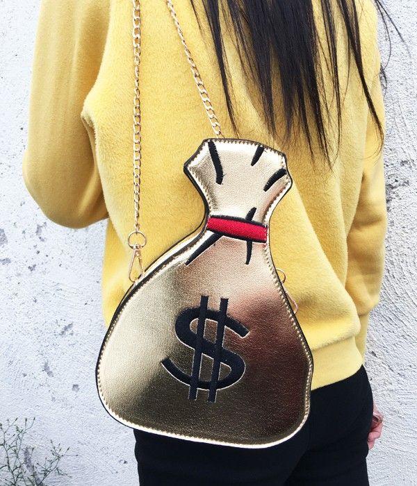 Bolsa Divertida Saco de Dinheiro- frete gratis