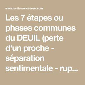 Les 7 étapes ou phases communes du DEUIL (perte d'un proche - séparation sentimentale - rupture contrat professionnel) - revelessencedesoi.com