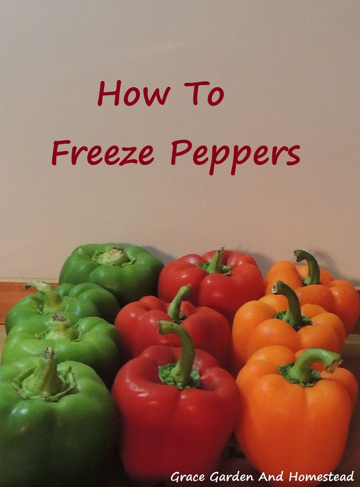 Did you know you can freeze peppers? You can. The trick is to know when you need to blanch them first and when you don't. Find out the details here.
