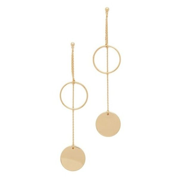 Cloverpost Flurry Earrings found on Polyvore featuring jewelry, earrings, gold, earring jewelry, long earrings, 14 karat gold jewelry, 14k jewelry and 14k earrings