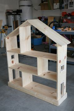 What little girl wouldn't adore this??  Great idea, great execution! Bookcase Dollhouse from The Fabulous Ana White | Do It Yourself Home Projects from Ana White