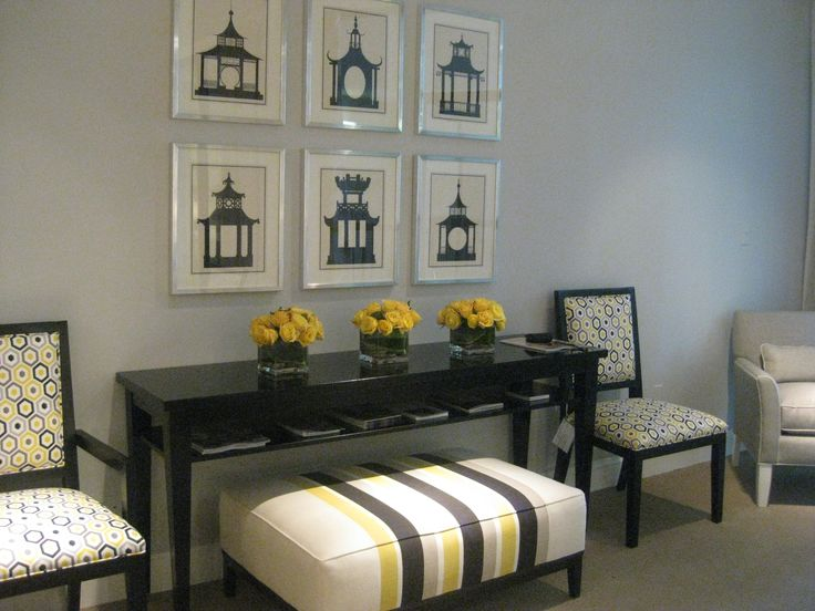 Great Color Mixs For Gray Painted Furniture Design Ideas With Black Table And Excellent Chairs Sofas Pictures On Wall