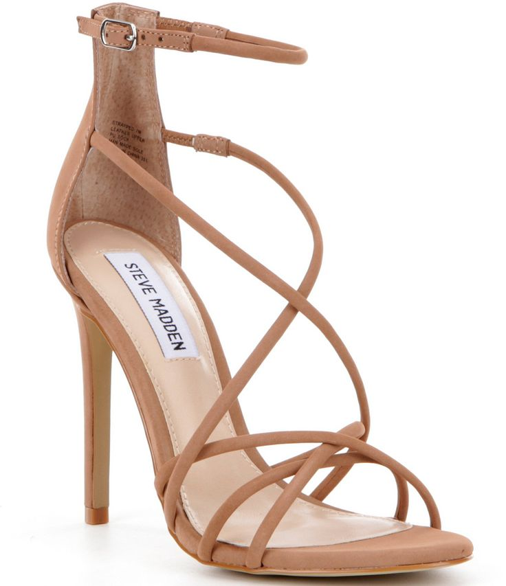 Steve Madden Strapped Strappy Ankle Strap Dress Sandals #Dillards
