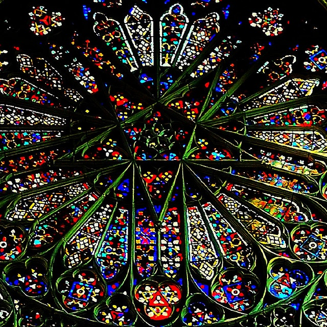 Amiens Cathedral - Exquisite use of Mandala meeting architecture!!