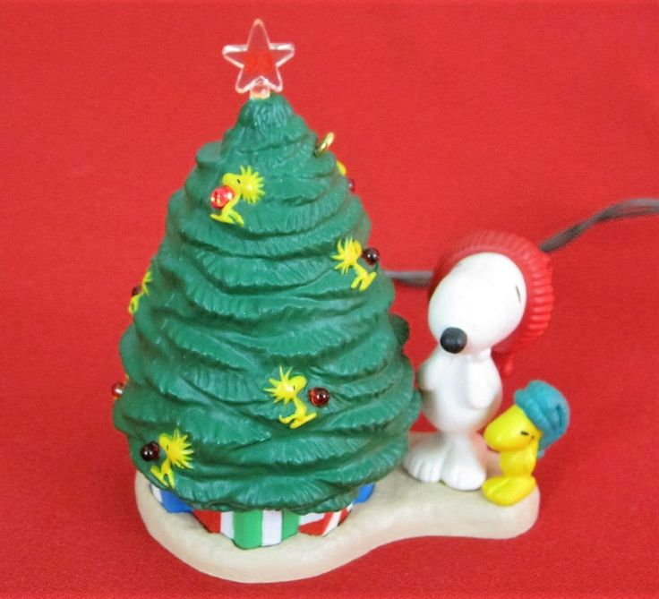 hallmark peanuts light up snoopy christmas ornament 1993 no box see video