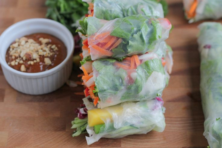 Light, fresh, versatile and flavorful, Asian Spring Rolls make the perfect finger food for a spring or summer get-together!