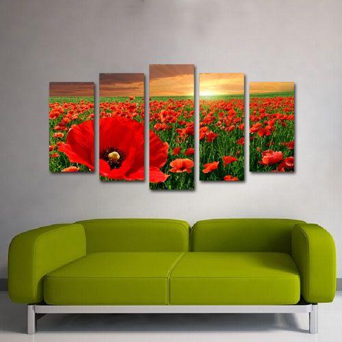 #Tablouri_Canvas din 5 piese: 2 buc x 25 x 50 cm.2 buc x 25 x 60 cm.1 buc. x 25 x 70 cmSuprafata totala : 137 x 70 cm