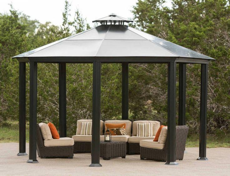 pavillon aus metall. Black Bedroom Furniture Sets. Home Design Ideas