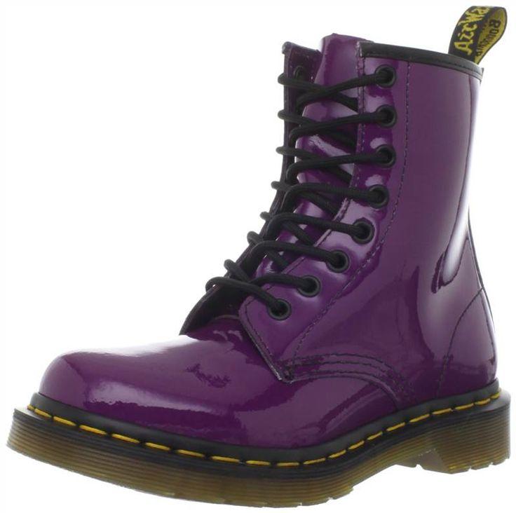 women doc marten   Dr. Martens doc martens Women Patent 1460 Purple Lace Up Boots ...
