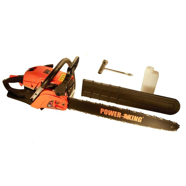 Power King 22 in. 57cc Heavy Duty Gas Chainsaw, Antivibe System
