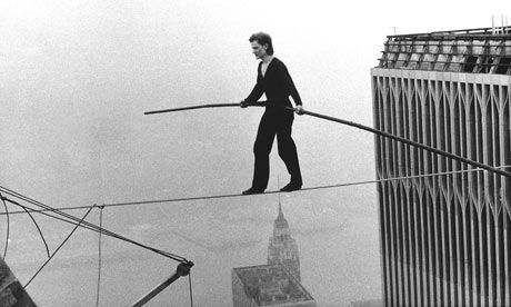 Philippe Petit French funambulist who gained fame for his high-wire walk between the Twin Towers of the World Trade Center in New York City on August 7, 1974.