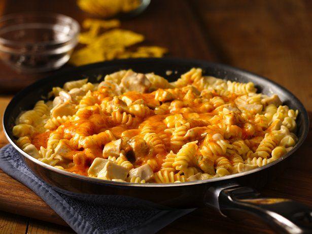 Cheesy Southwest Chicken Skillet - 2 c uncooked rotini pasta (6 oz), 2 ...