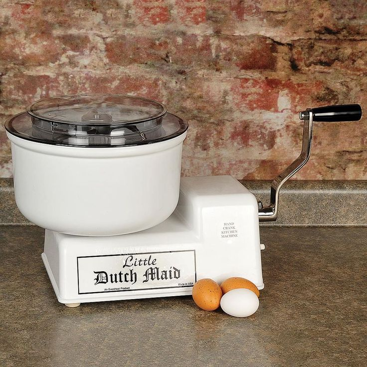 Conceived and built by a local Amish craftsman, this innovative hand-cranked mixer has 2 speeds for professional results every time, and the only power it requires comes from you! Whether you live off the grid, need a mixer for your cabin or RV, or just want to conserve energy, this appliance is a once-in-a-lifetime purchase that will become an integral kitchen companion.             No cord to get in the way and no motor to burn out - ever        Cranking is much easier on the arms than…