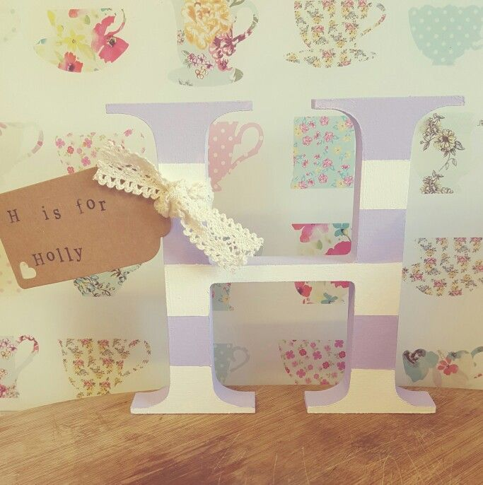 15 best personalised handmade baby gifts images on pinterest holly personalised baby letter nursery decor negle Image collections