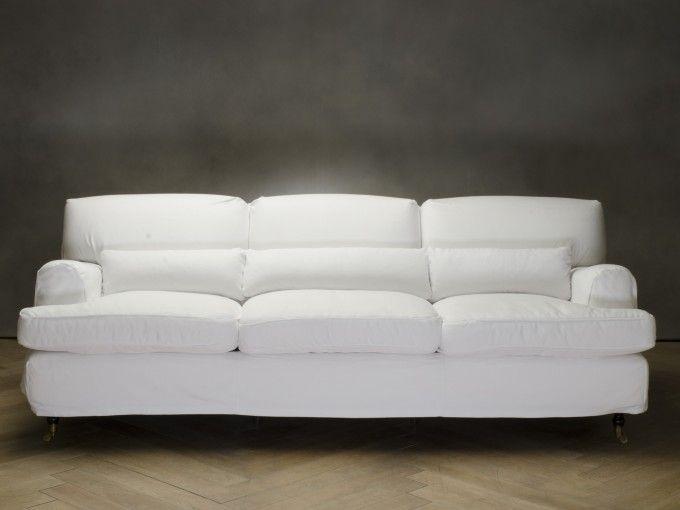 SAVOY Divano - 3 posti  codice: 8457100002    Colore  bianco  Rivestimento  cotone  Dimensioni  3 posti  Piedini  faggio  Struttura  faggio e abete  Misura:  (112x247x85)