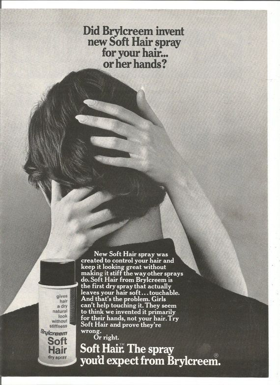 1971 Advertisement Brylcreem Soft Hair Spray Woman's by fromjanet