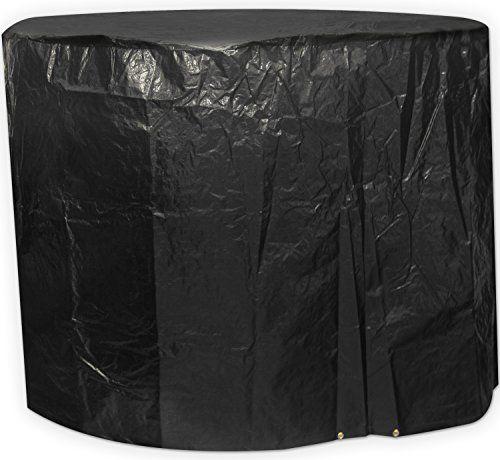 Woodside Black Medium Round Waterproof Outdoor Garden Patio Set Furniture Cover