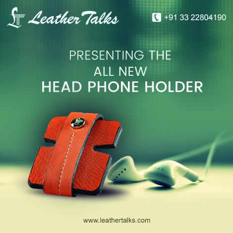We give you a quick and easy solution to keep your headphones tangle free. Buy this cute HEAD PHONE HOLDER exclusively available on our online store. http://leathertalks.com/product/headphone1/