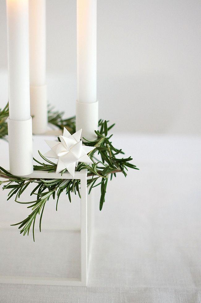 Kerzenständer weihnachtlich dekoriert