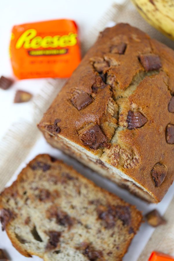 reese s peanut butter cup banana bread reeses peanut butter banana ...