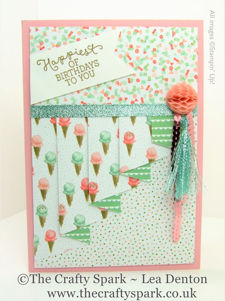 Pleat Fold Card Birthday Bouquet Stampin' Up!  UK Video Tutorial on how to make this gorgeous card