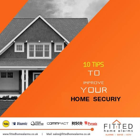 10 Tips to Improve Your Home's Security  Mail: sales@fittedhomealarms.co.uk 1. Change the Locks 2. Install an Alarm System 3. Conceal All Wiring 4. Give the Appearance That Your House is Occupied 5. Don't Leave Your Key in the Mailbox 6. Light Up the Entrance to Your Home 7. Install Deadbolt Locks 8. Use Metal Bars on Sliding Doors 9. Use Interior Door Hinges 10. Protect Your Windows Visit our website for more information: http://www.fittedhomealarms.co.uk/