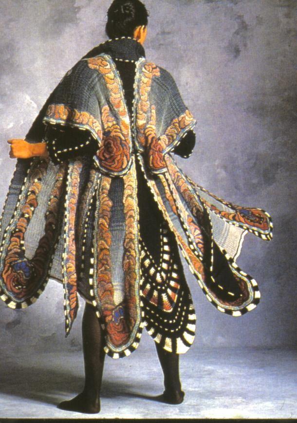 Sharron  Hedges. Title: Morpho. Date: 1982. Wool...Knit & Crochet