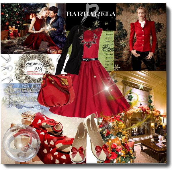 """Christmas with Barbarela Jewelry"" by laurenrez on Polyvore"