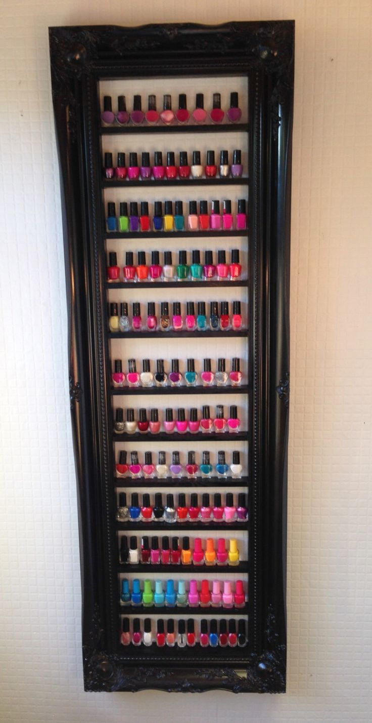 Nail polish rack for OPI CND Gelish Orly nail polish display rack by chicybeeUK on Etsy https://www.etsy.com/listing/249927493/nail-polish-rack-for-opi-cnd-gelish-orly