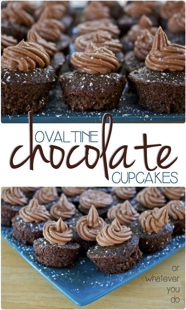 Ovaltine Chocolate Cupcakes - so ovaltine is the 'secret' ingredient in these moist, tender, made-from-almost-scratch cupcakes.