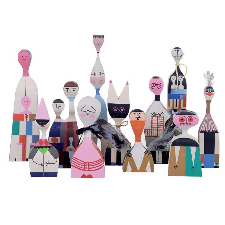 Colourful Dolls: Wooden Dolls by Vitra, design: Alexander Girard