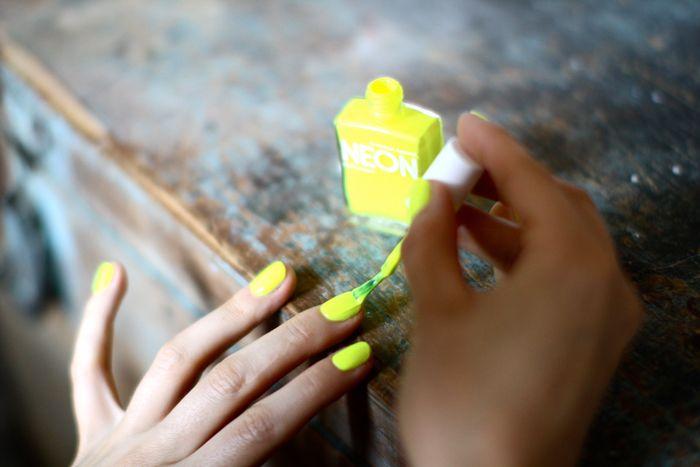 Whoa... I think I need some neon polish from American Apparel.