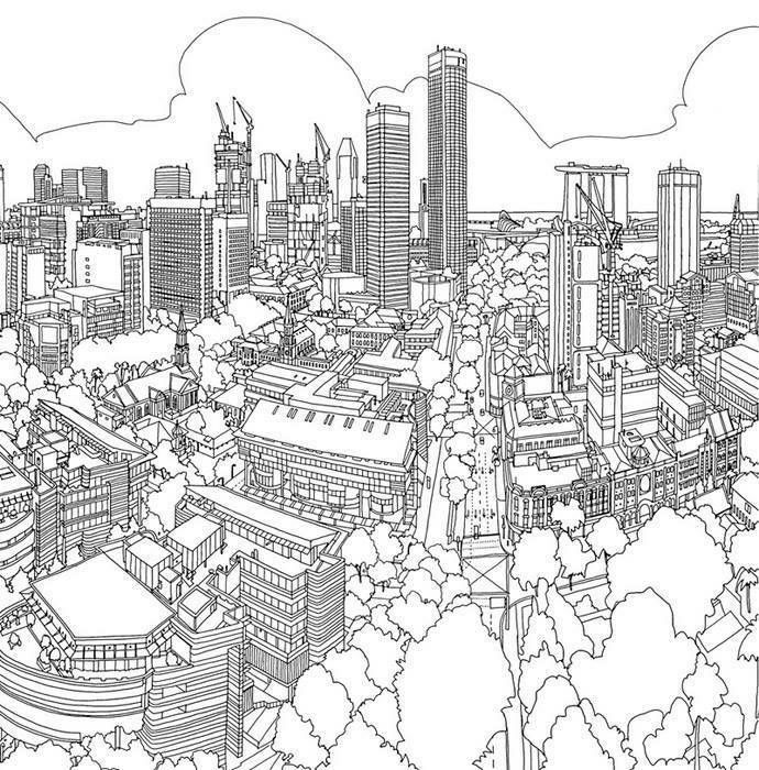 Fantastic Cities An Amazing Architectural Coloring Book