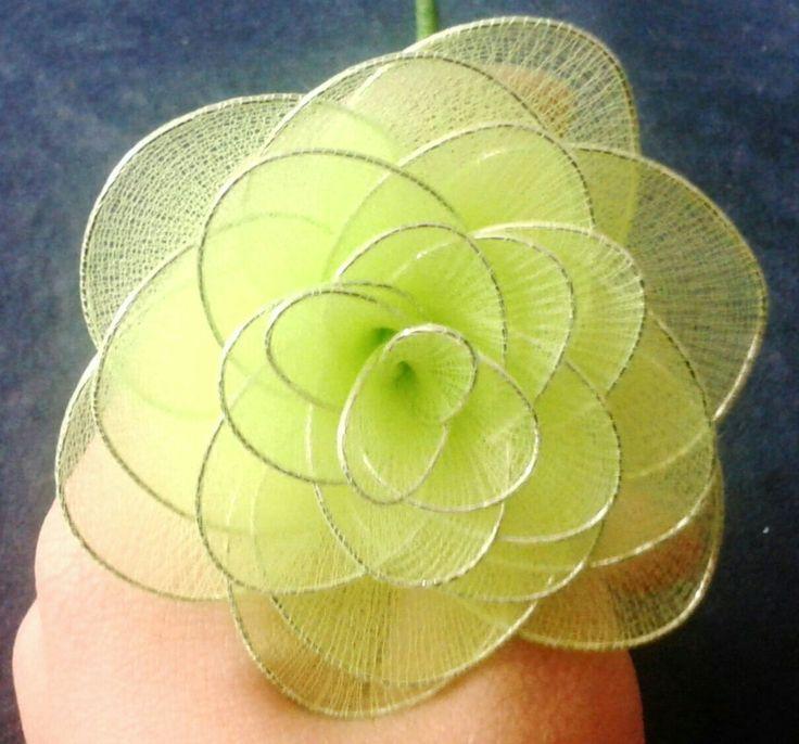 Harisnyavirág-nylon flower Zöld rózsa-green rose