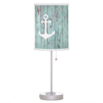 shabby chic white nautical anchor table lamp - shabby chic unique special diy