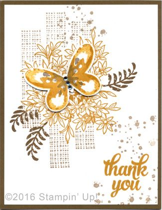 Stampin' Up! Cards - Awesomely Artistic, Watercolor Wings and Tin of Cards stamp sets and Butterflies Thinlits Dies