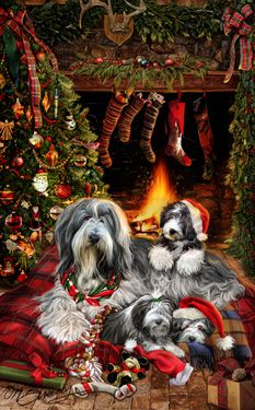 """New for 2015!  Bearded Collie Christmas Holiday Cards are 8 1/2"""" x 5 1/2"""" and come in packages of 12 cards. One design per package. All designs include envelopes, your personal message, and choice of greeting.Select the inside greeting of your choice from the menu below.Add your custom personal message to the Comments box during checkout."""