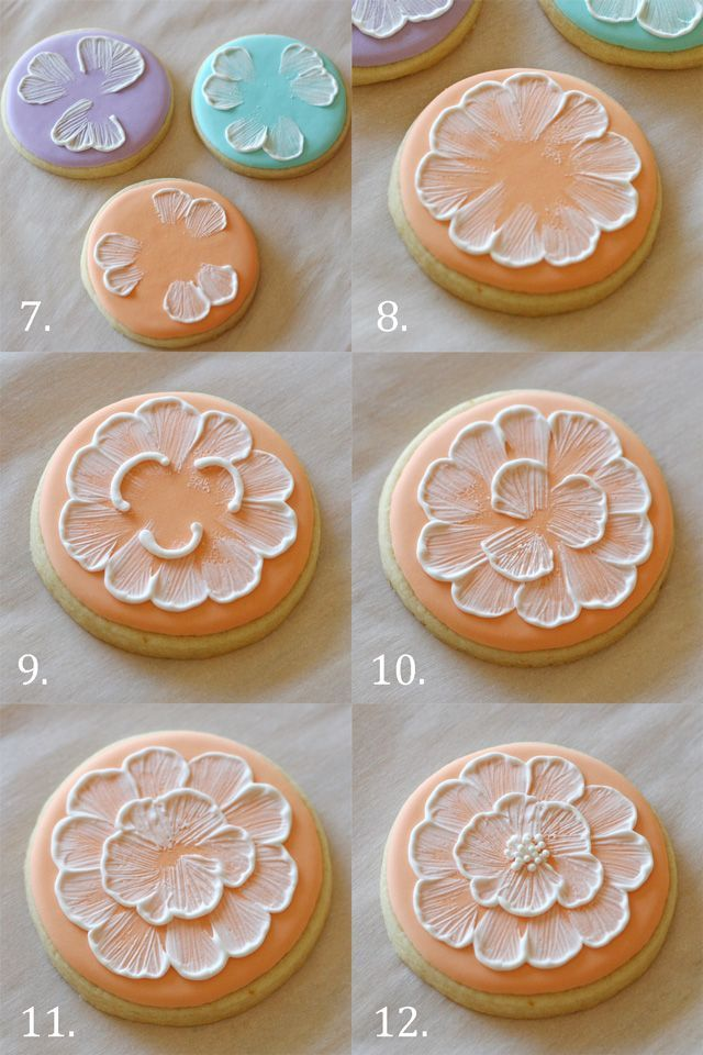 Spring Brush Embroidery Cookies - Glorious Treats - did i pin this already?